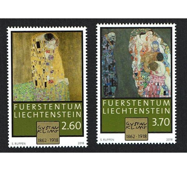 2018 Liechtenstein 100° anniversario di Gustav Klimt