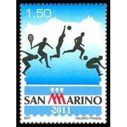2011 San Marino Lo sport nella filatelia