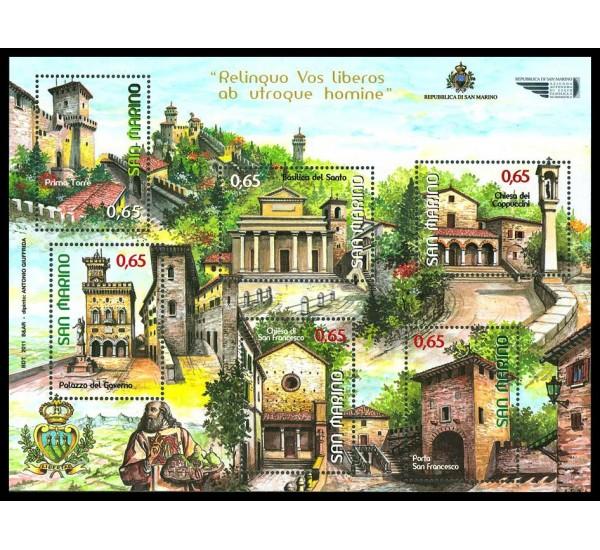 2011 San Marino Serie turistica Edifici di San Marino