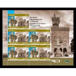 2011 San Marino Visita del Papa minifoglio
