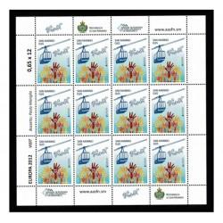 2012 San Marino Emissione Europa Minifoglio