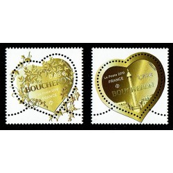2019 Francia Boucheron francobolli a forma di cuore - unusual