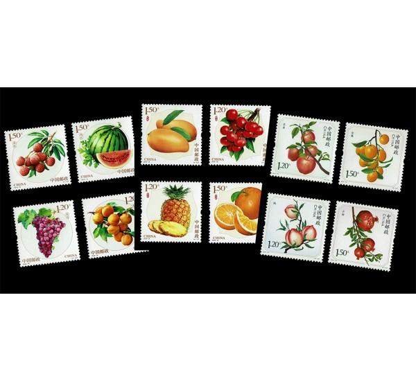 Cina - 2 serie tematiche dedicate alla frutta
