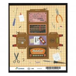 2018 Brasile Radio d'epoca Unusual stamps - ripiegabile