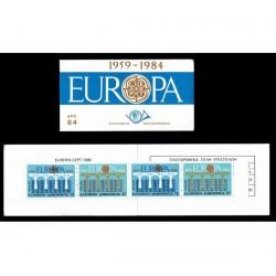 1984 Grecia Libretto Emissione Europa - 25° anniversario