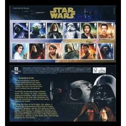 2015 Gran Bretagna STAR WARS Folder 12 personaggi