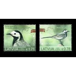 2019 Lettonia emissione Europa tema Uccelli