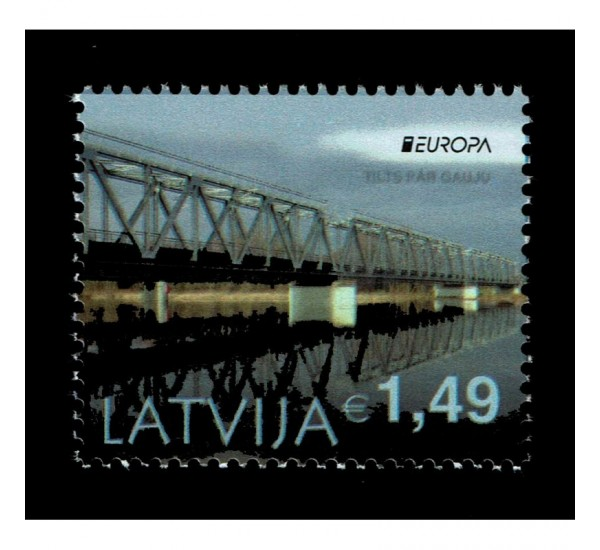 2018 Lettonia emissione Europa - Ponti