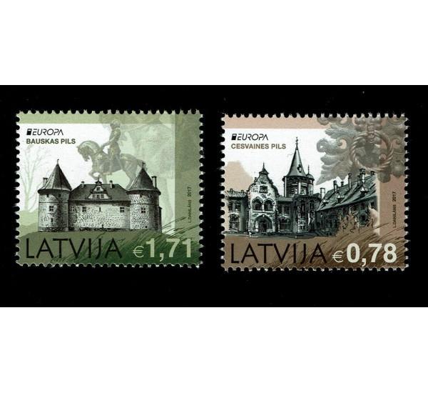 2017 Lettonia emissione Europa - Castelli