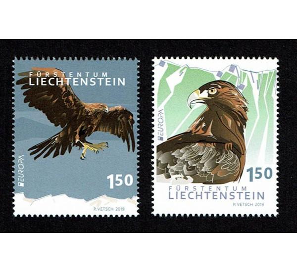 2019 Liechtenstein Emissione Europa - Uccelli autoctoni