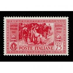 1932 Giuseppe Garibaldi 75cent Sas.320 MNH/**
