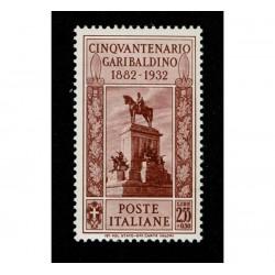 1932 Giuseppe Garibaldi 2,55+50 cent Sas.323 MNH/**