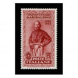 1932 Giuseppe Garibaldi 5+1 Lire Sas.324 MNH/**