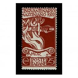 1922 Giuseppe Mazzini 25cent Sas.128 nuovo MNH/**