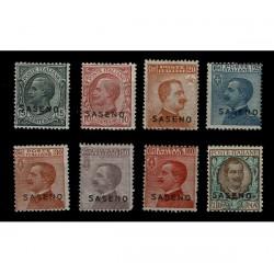 1923 Colonie Saseno Albania Serie inguellata MH/*
