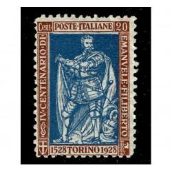 1928 Emanuele Filiberto 20cent Sas.226 nuovo MNH/**