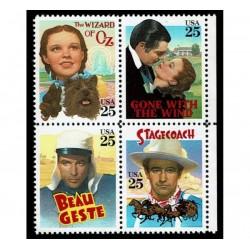 1990 Stati Uniti Film classici Holliwood MNH/**