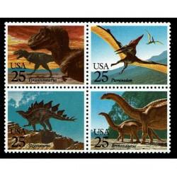 1989 Stati Uniti Fauna preistorica - Dinosauri MNH/**