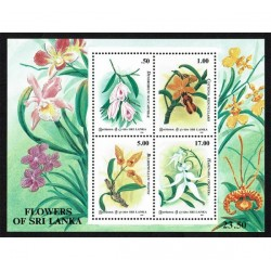 1994 Sri Lanka tematica fiori foglietto MNH/**