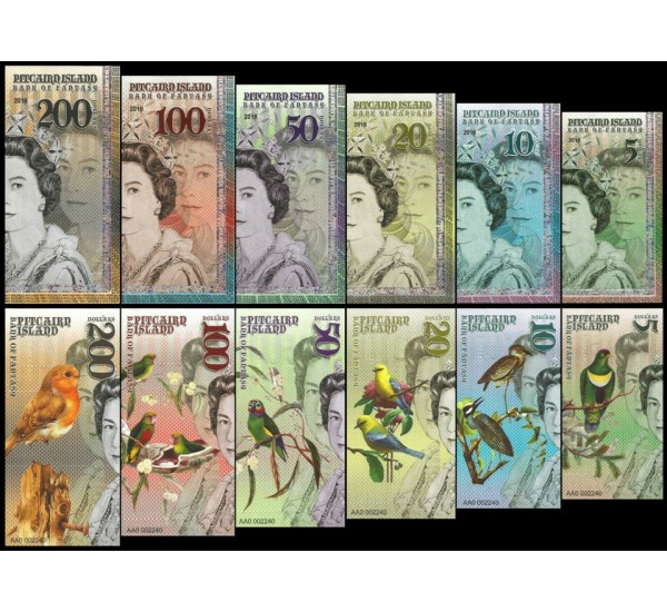 2019 Pitcairn Island - Bank of Fantasy tematica uccelli