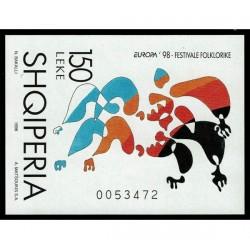 1998 Albania emissione Europa festival nazionali
