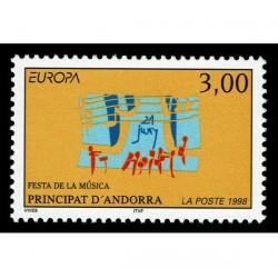 1998 Andorra emissione Europa festival nazionali