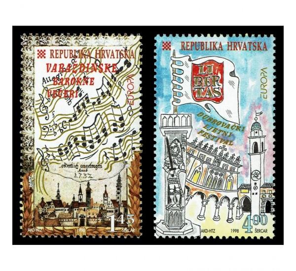 1998 Croazia emissione Europa festival nazionali