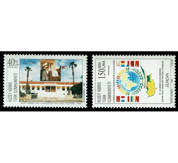 1998 Cipro Turca emissione Europa festival nazionali