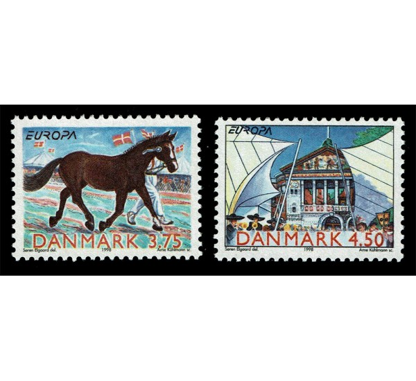 1998 Danimarca emissione Europa festival nazionali