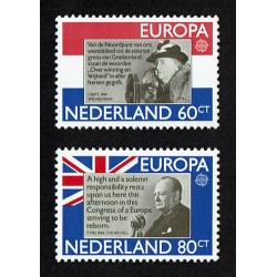 1980 Olanda emissione Europa Churchill e Queen Wilhelmina