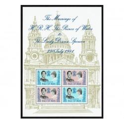 1981 Isle of Man Matrimonio reale Principe Carlo e Lady Diana