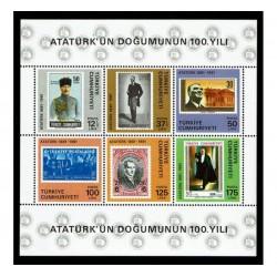 1981 Turchia nascita Ataturk foglietto