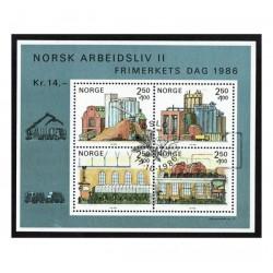 1985 Norvegia Giornata del francobollo Estrazione del Petrolio US/°