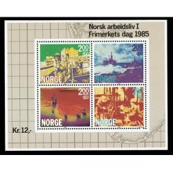 1986 Norvegia Giornata del francobollo Industria della Carta