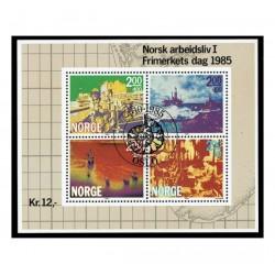 1986 Norvegia Giornata del francobollo Industria della Carta US/°