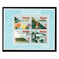 1987 Norvegia Giornata del francobollo Produzione del salmone US/°