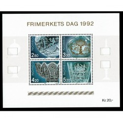 1992 Norvegia Giornata del francobollo - arte vetraia