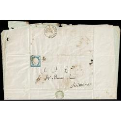 Svolazzo 32 (10pt) lettera con testo da Aquila a Sulmona - Risorgimentale
