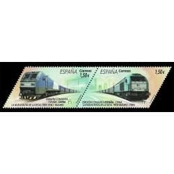 2019 Spagna Congiunta (Joint Iusse) Cina Treno della Seta - dittico
