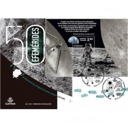2019 Spagna FDC 50° anniversatio Uomo sulla Luna - Unusual Stamp