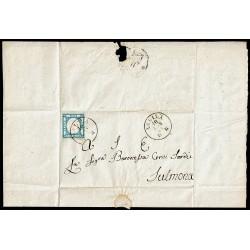 1861 lettera con testo da Aquila a Sulmona - Risorgimentale riferimento truppe