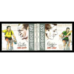 2010 San Marino Anniversari morte di Gino Bartali e Fausto Coppi