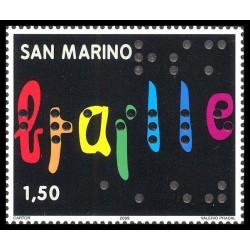 2009 San Marino 2º centenario della nascita di Louis Braille