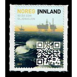2019 Norvegia 50 Anni Produzione Petrolio con QR code