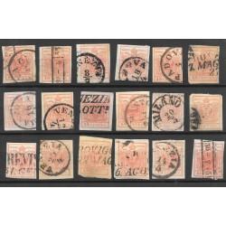 ASI Lombardo Veneto - lotto di 15 cent usati