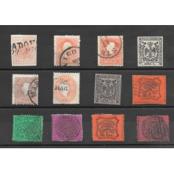 Antichi Stati insieme di 12 francobolli usati buona qualità