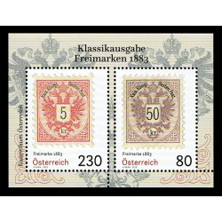 2019 Austria Francobolli classici del 1883 foglietto