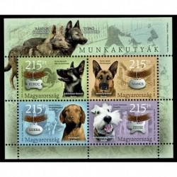 2019 Ungheria Cani da Lavoro foglietto