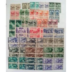 Collezione Repubblica 362 Quartine Timbrate differenti