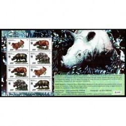 1996 Indonesia WWF Rinoceronti foglietto speciale